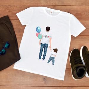 """Tricou personalizat """"Tata cu fetita"""""""