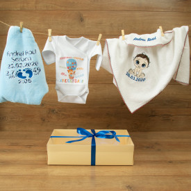 "Set personalizat bebe ""Welcome baby"""