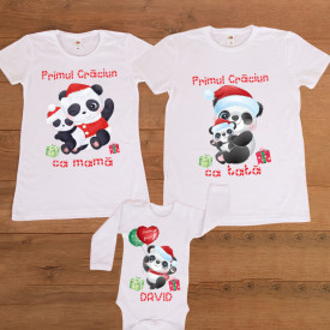 """Set personalizat Craciun """"Panda"""""""