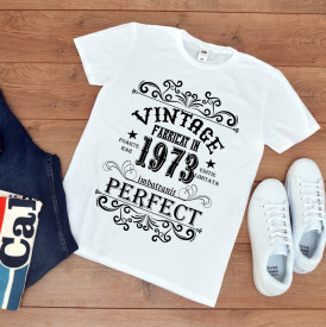 tricou personalizat aniversare vintage