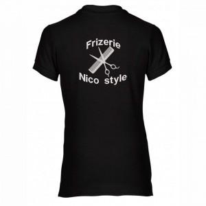 """Tricou polo brodat personalizat """"Frizerie"""""""