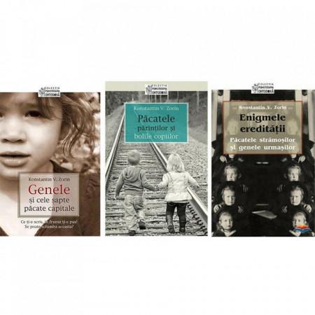 Pachet promotional: Genele si cele 7 pacate capitale + Păcatele părinților și bolile copiilor + Enigmele ereditatii. Pacatele stramosilor si genele urmasilor