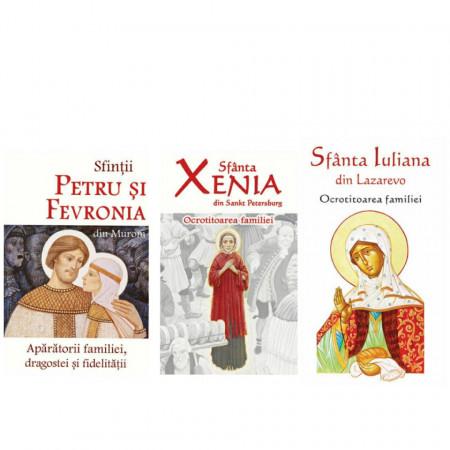 Pachet promotional: Sfinti aparatori ai familiei - Sfanta Iuliana din Lazarevo, Sfintii Petru si Fevronia, Sfanta Xenia