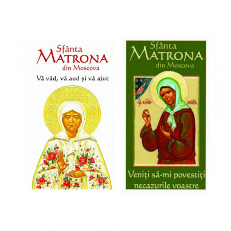 Pachet promotional cu 2 carti - Sfanta Matrona din Moscova