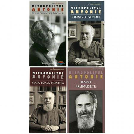 Pachet promotional cu 4 carti- ale Mitropolitului Antonie de Suroj (Viata, Boala, Moartea - Despre credinta si indoiala - Dumnezeu si Omul - Despre frumusete)