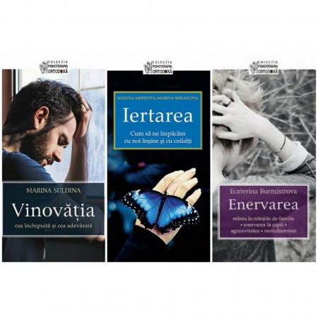 """Pachet promotional cu 3 carti din colectia """" Psihoterapia Ortodoxa"""" Vinovatia / Iertarea/ Enervarea"""
