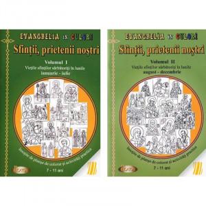 Pachet: Sfintii, prietenii nostri - Carte de colorat - Vol. 1 + 2