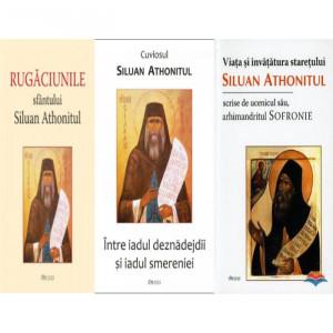 Pachet: Sfantul Siluan Athonitul: Viata si invatatura Staretului Siluan Athonitul / Intre iadul deznadejdii si iadul smereniei /Rugaciunile Sfantului Siluan Athonitul