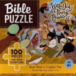 Bible puzzle - 100 pieces with Bible Scripture - Jesus Heals a Crippled Man(6+)