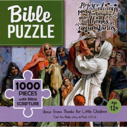 Bible puzzle - 1000 pieces with Bible Scripture - Jesus Gives Thanks for Little Children(12+)