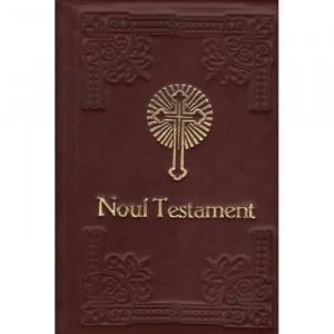 Noul Testament cu Psalmii (legat in piele, auriu)