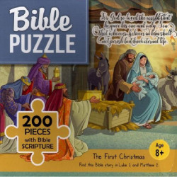 Bible puzzle - 200 pieces with Bible Scripture - The First Christmas (8+)