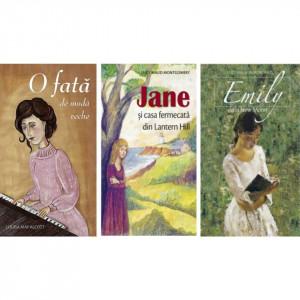 Pachet: Literatura pentru fete:Jane și casa fermecată din Lantern Hill -O fată de modă veche -Emily de la New Moon