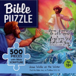 Bible puzzle - 500 pieces with Bible Scripture - Jesus Walks on the Water (10+)