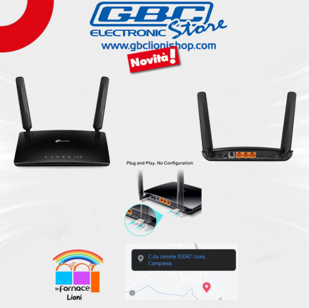 Router WiFi N300 4G LTE telefonia VoLTE TP-Link