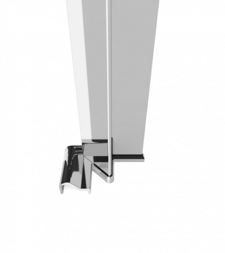 Profil inchidere la perete cu cheder magnetic finisaj crom Kerria Plus