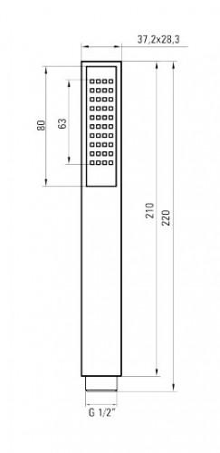 Anemon dispersor de dus Alb