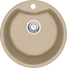 FIESTA Chiuveta Granit 1-BOWL SINK, ROUND, WITH FITTINGS, SANDY GRANITE