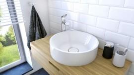 Lavoar alb rotund ceramic Miran