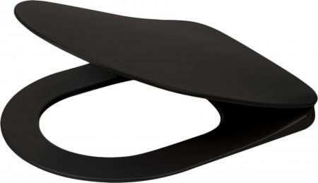 Peonia Black capac slim - Vas WC negru