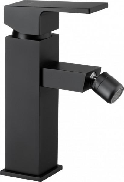 Anemon Black baterie de bideu cu sistem de dop automat finisaj negru