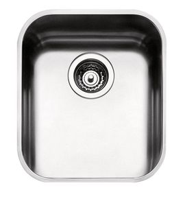 ARABESKA SINK UNDERMOUNTED BOWL 34X40 WITH FITTINGS, SATIN