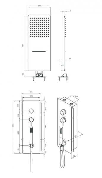 Multibox 2 set de dus cascada - slim