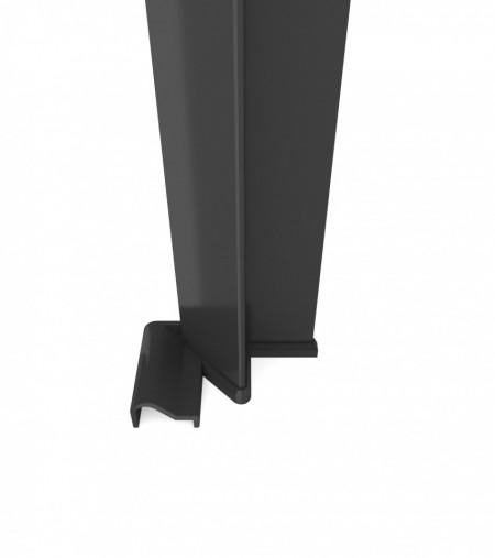 Profil inchidere la perete cu cheder magnetic finisaj negru Kerria Plus