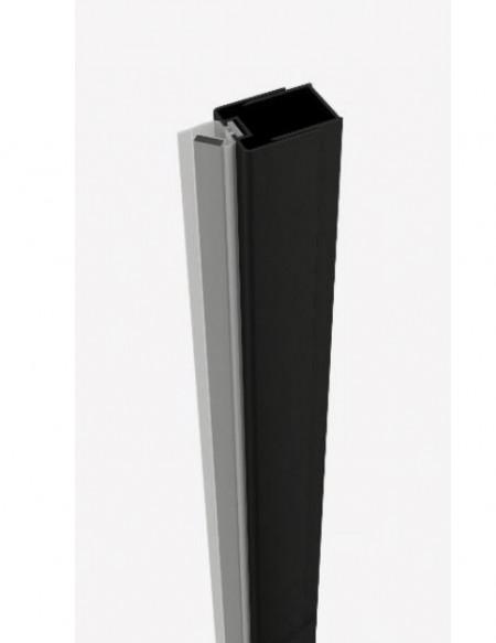 Profil inchidere la perete cu cheder magnetic finisaj negru