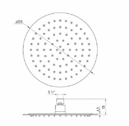Floks dispersor fix - rotund alb anticalcar 25 cm diametru