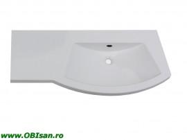 Lavoar 110 cm stanga din marmura artificiala 110x52x15cm pentru mobilier 40101, 40201, 40301, 40401,