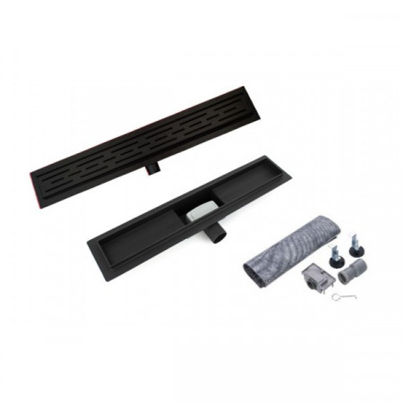 Rigola / sifon 60 cm, finisaj negru