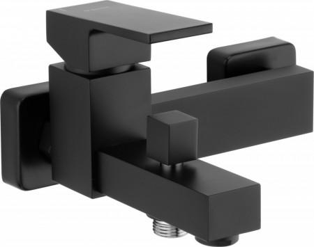 Anemon Black baterie de cada cu montaj in perete si functie de dus finisaj negru
