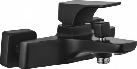 Baterie pentru cada cu functie si de dus finisaj negru (black) Hiacynt Nero