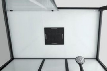 CL75 Cabina de dus completa SKY3 profile negre, montaj in 5 minute