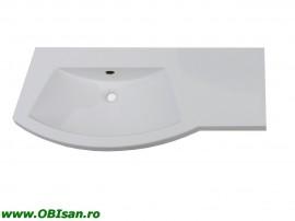Lavoar 110 cm dreapta din marmura artificiala 110x52x15cm pentru mobilier 40102, 40202, 40302, 40402,