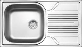 LEGATO DECOR SINK ONE BOWL WITH DRAINER, 2'' OUTFLOW WITH FITTING