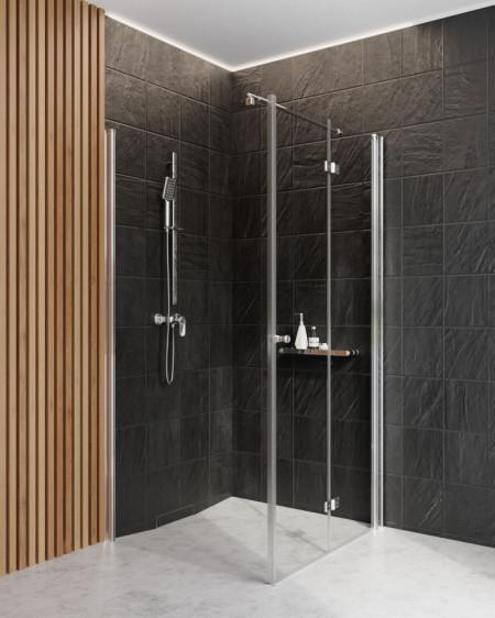 Paravan de duș walk-in, finisaj crom din seria Kerria 80 cm KTS 038P
