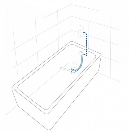 2in1 pipa cada tip cascada si ventil / sifon