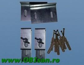 Set de cleme din otel pentru fixarea la perete a cazilor