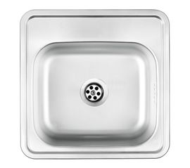 TECHNO SATIN SINK 1BOWL WITHOUT DRAINER WIT FITTING