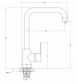 ALPINIA Baterie lavoar / bucatarie crom Deante