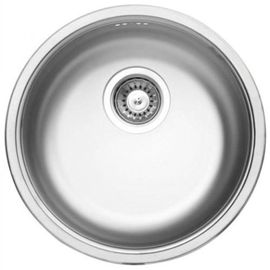 CORNETTO 1-BOWL S/S SINK, ROUND, WITH FITTINGS, SATIN