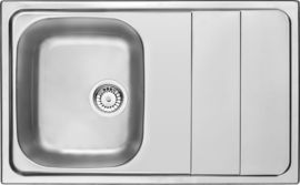 MAESTRO SATIN SINK ONE BOWL WITH DRAINER WITH FITTING
