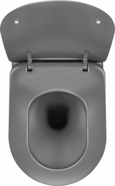 Peonia Vas WC suspendat antracit