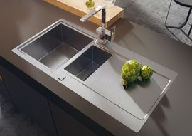PROSPERO SATIN SINK 1,5 BOWL WITH DRAINER WITH FITTING