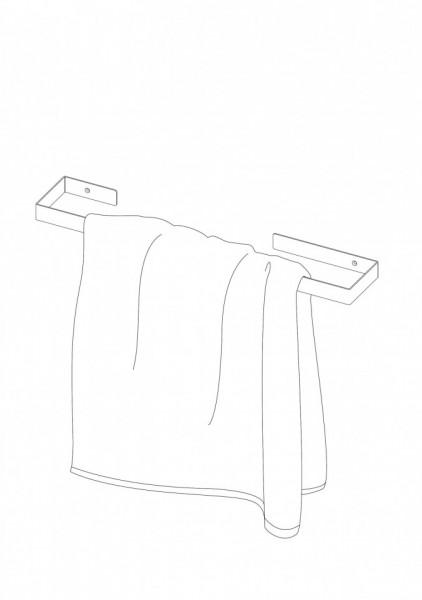 Suport prosop baie tip bara 60 cm seria Nero