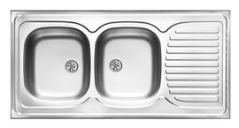 TANGO DECOR SINKS 2BOWLS WITH DRAINER WITH FITTING
