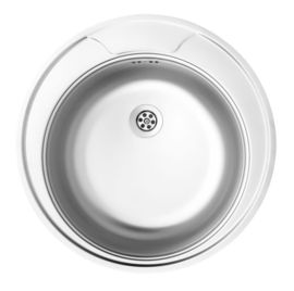 TWIST SATIN SINK 1-BOWL ROUND WITH DRAINER
