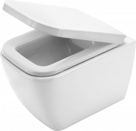 Hyacint Vas WC suspendat, alb cu fixare ascunsa si capac de wc CDH_6DOZ & CDH_6ZPW